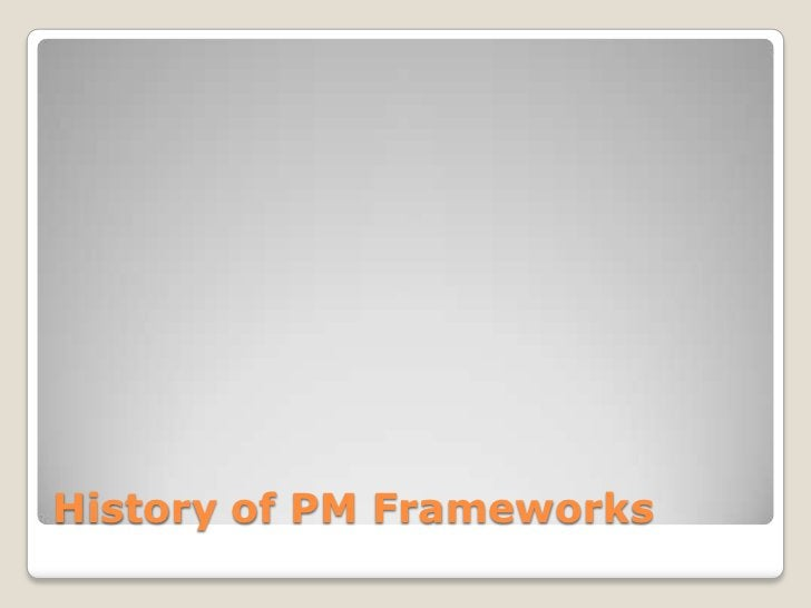 History of PM Frameworks