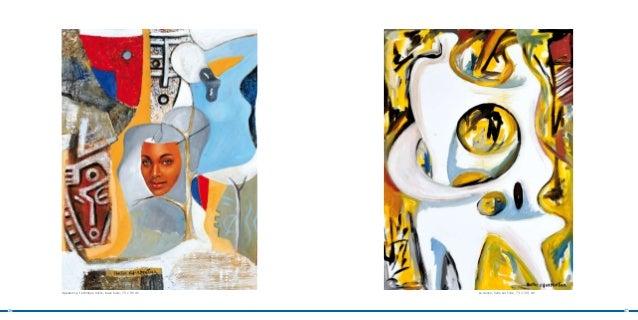 Apparence, technique mixte, base huile, 70 x 90 cm   La dance, huile sur toile, 73 x 100 cm26                             ...
