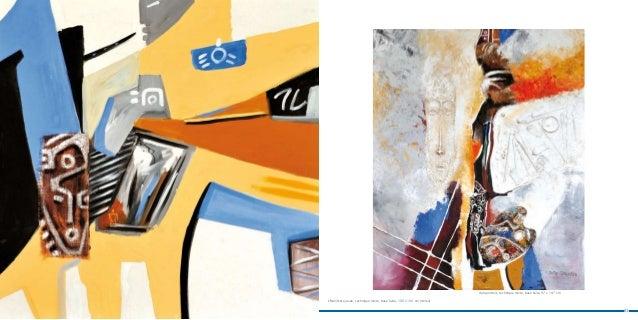 Autoportrait, technique mixte, base huile, 97 x 147 cm     < Manifeste jaune, technique mixte, base huile, 100 x 100 cm (d...