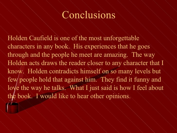 catcher in the rye conclusions
