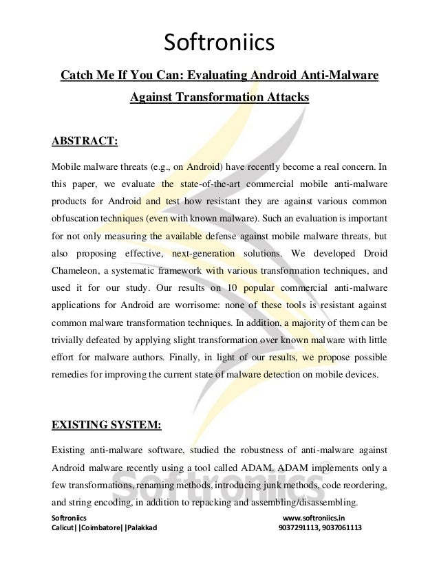 Catch me if you can evaluating android anti malware against