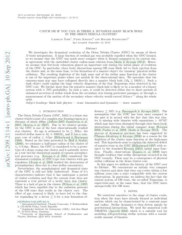 ApJ accepted, September 12, 2012                                                Preprint typeset using L TEX style emulate...