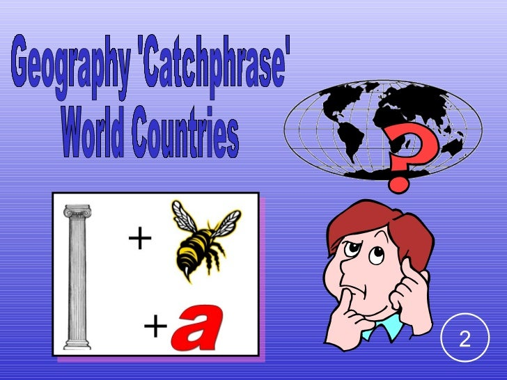 Geography 'Catchphrase' World Countries  2