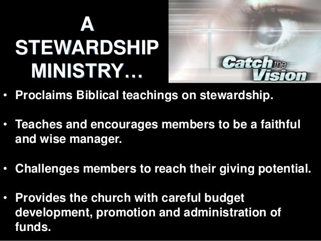Guidelines for Developing A Strong Stewardship Ministry