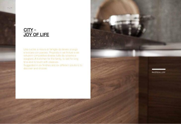 02.___ /03.              city ˜              joy of life              Una cucina a misura di famiglia da tenere a lungo   ...