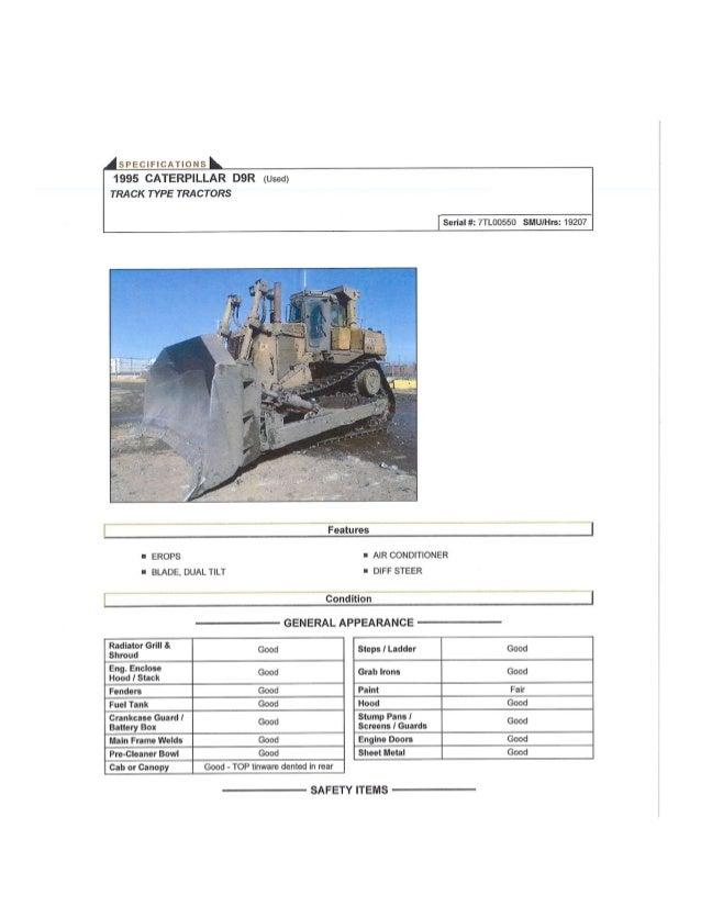 Cat D9R Inspection Report