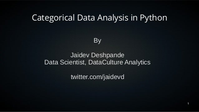 Categorical Data Analysis in Python