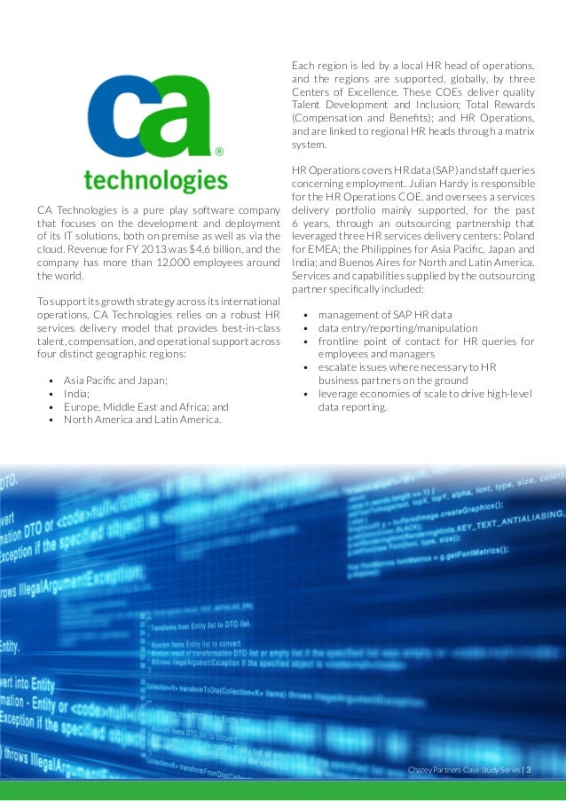 Case Study Report on CA Technologies - Helical IT ...