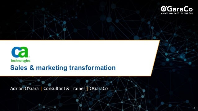 © Copyright OGaraCo 2018 1 Sales & marketing transformation Adrian O'Gara | Consultant & Trainer | OGaraCo