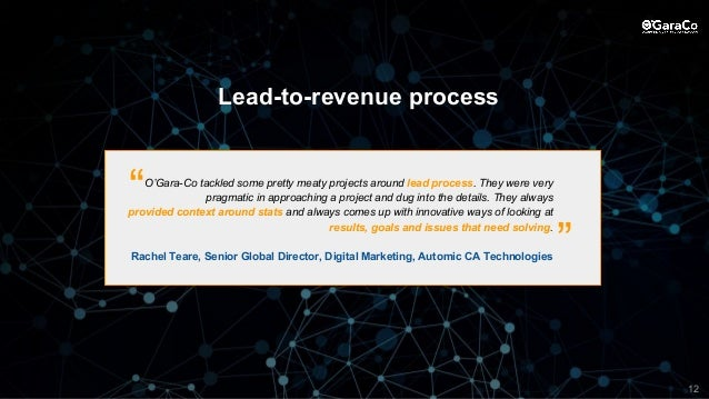 O'Gara-Co tackled some pretty meaty projects around lead process. They were very pragmatic in approaching a project and du...