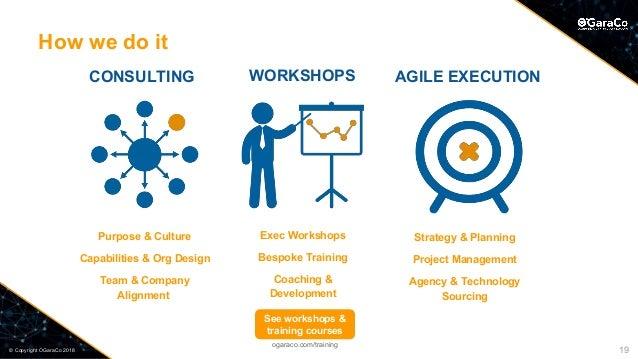 © Copyright OGaraCo 2018 CONSULTING Purpose & Culture Capabilities & Org Design Team & Company Alignment Strategy & Planni...