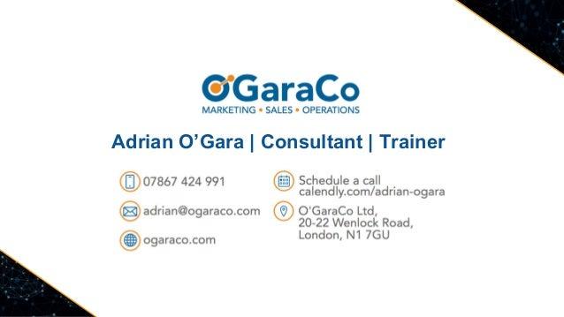 Adrian O'Gara   Consultant   Trainer
