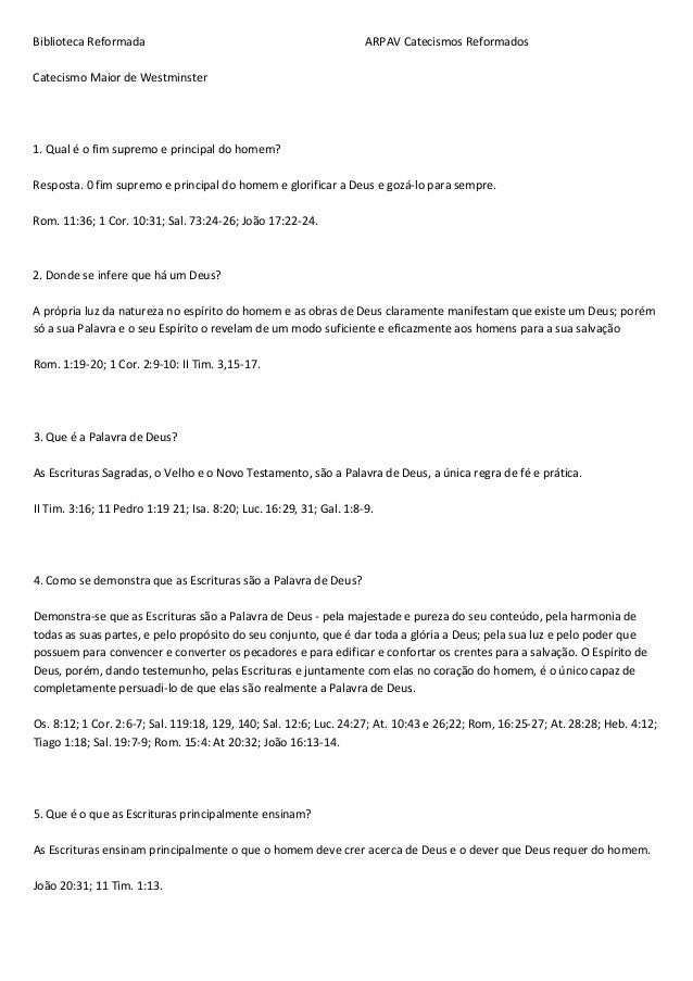BibliotecaReformadaARPAVCatecismosReformado...