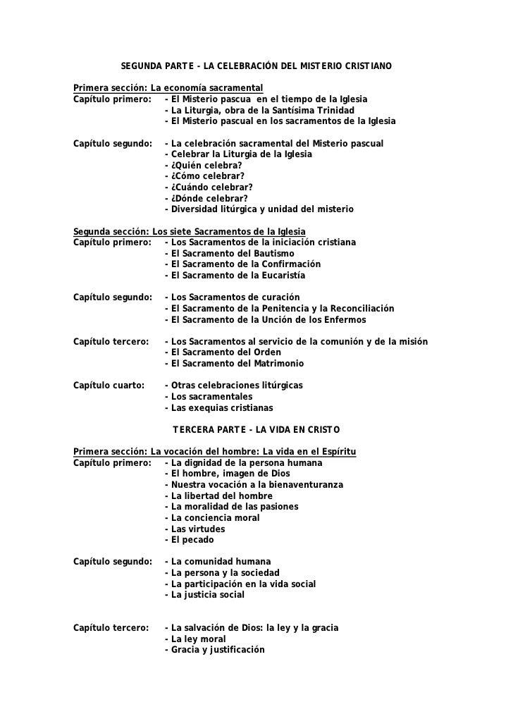 SEGUNDA PARTE - LA CELEBRACIÓN DEL MISTERIO CRISTIANO  Primera sección: La economía sacramental Capítulo primero: - El Mis...