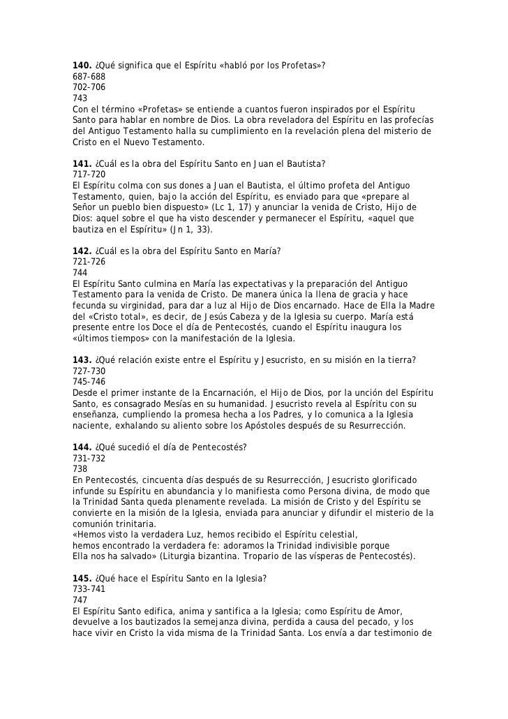 140. ¿Qué significa que el Espíritu «habló por los Profetas»? 687-688 702-706 743 Con el término «Profetas» se entiende a ...