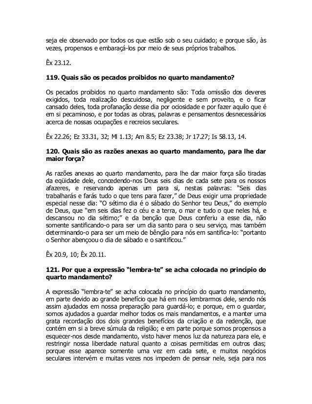 DE WESTMINSTER BAIXAR CATECISMO MAIOR