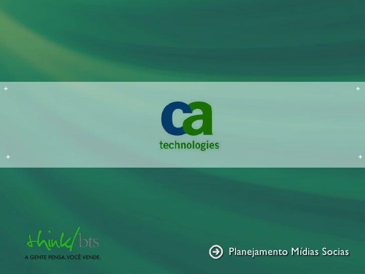 CA TECNOLOGIES SOCIAL MÍDIA
