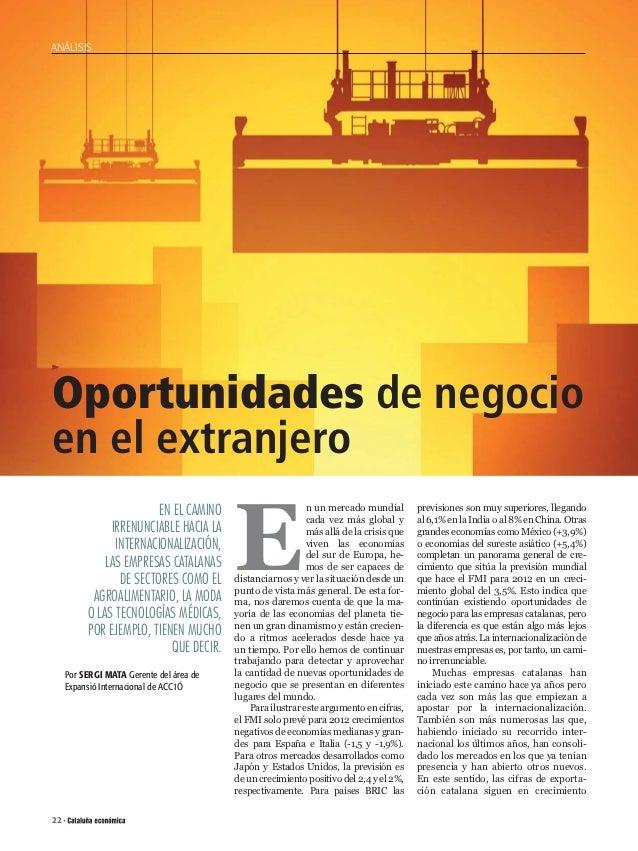ANÁLISIS           Oportunidades de negocio           en el extranjero                                                    ...