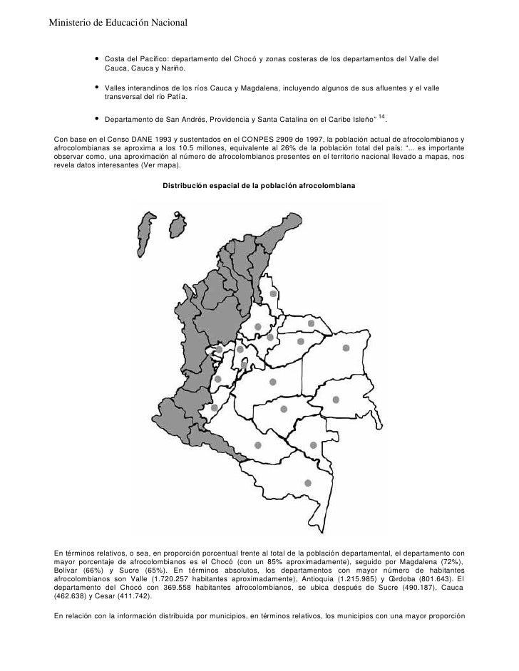 Lineamientos Curriculares Catedra De Estudios Afrocolombianos