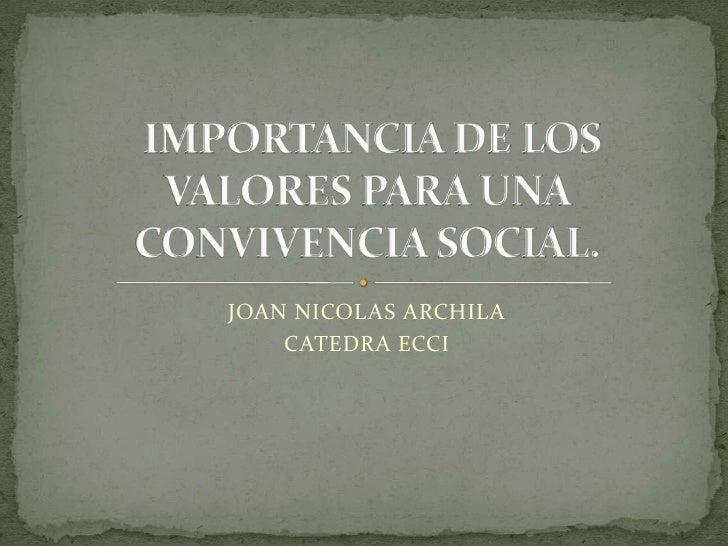 JOAN NICOLAS ARCHILA    CATEDRA ECCI