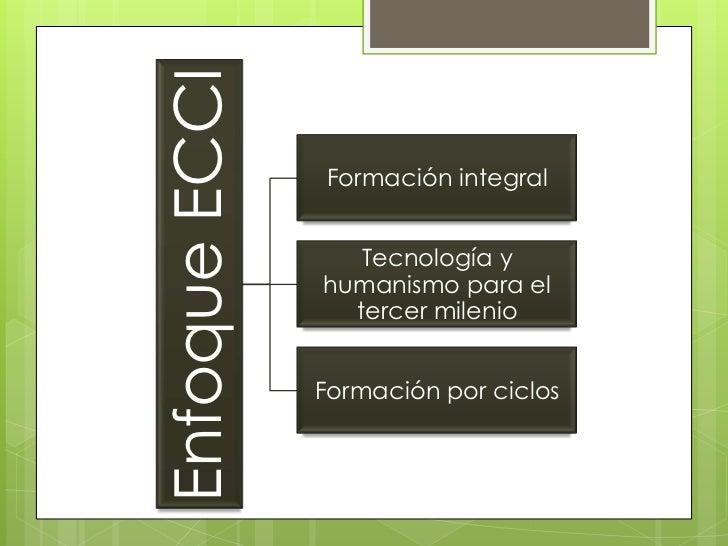 Enfoque ECCI               Formación integral                  Tecnología y               humanismo para el               ...