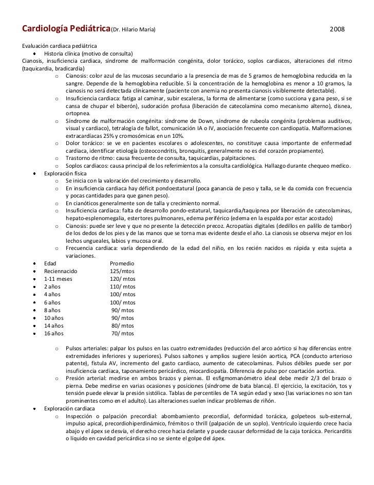 Cardiología Pediátrica(Dr. Hilario María)                                                                                 ...