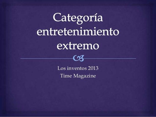 Los inventos 2013 Time Magazine