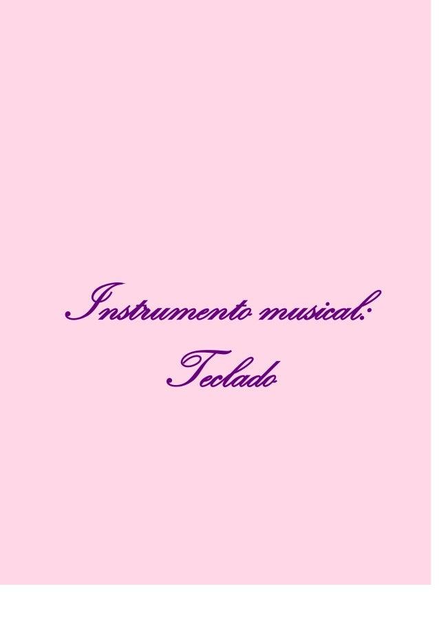 Instrumento musical:Teclado