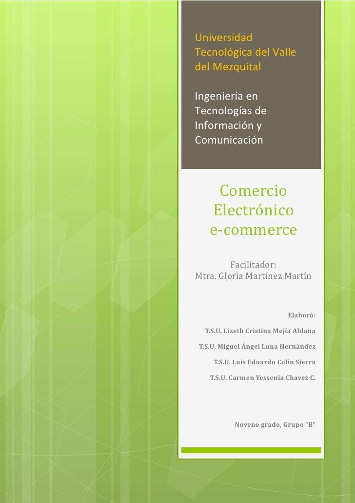 Categorías de Comercio ElectrónicoUnidad 1                                     Universidad Evidencia de aprendizaje       ...