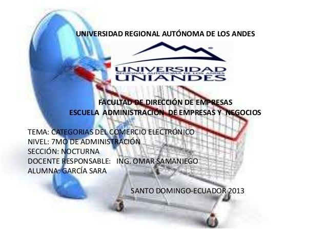 UNIVERSIDAD REGIONAL AUTÓNOMA DE LOS ANDESFACULTAD DE DIRECCIÓN DE EMPRESASESCUELA ADMINISTRACIÓN DE EMPRESAS Y NEGOCIOSTE...