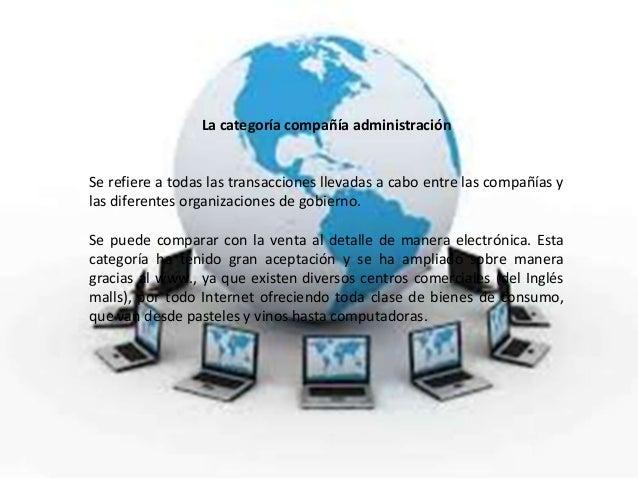 La categoría compañía administraciónSe refiere a todas las transacciones llevadas a cabo entre las compañías ylas diferent...