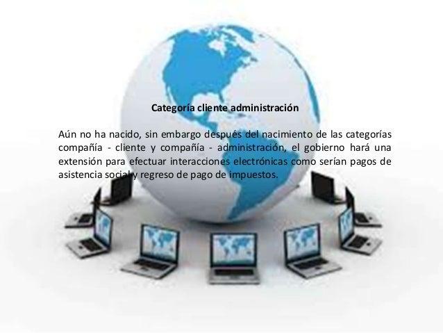 Categoría cliente administraciónAún no ha nacido, sin embargo después del nacimiento de las categoríascompañía - cliente y...