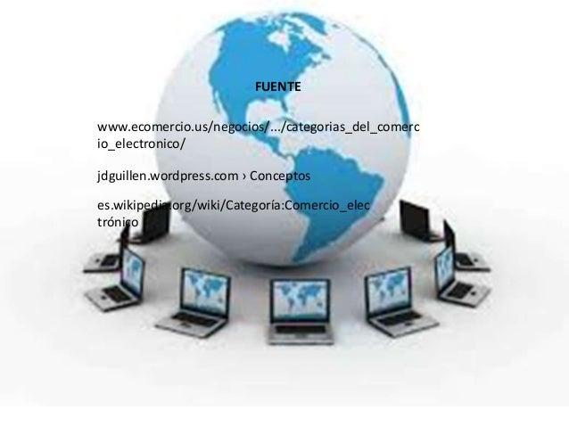 FUENTEwww.ecomercio.us/negocios/.../categorias_del_comercio_electronico/jdguillen.wordpress.com › Conceptoses.wikipedia.or...