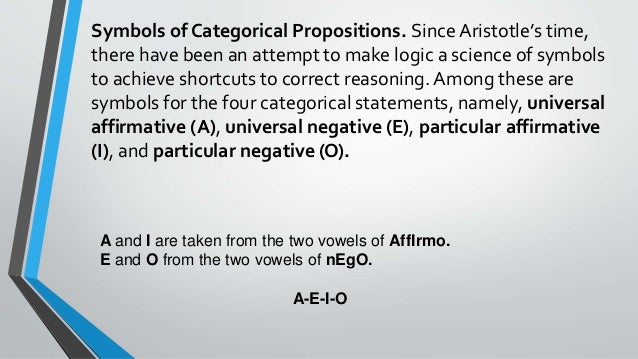universal affirmative proposition examples