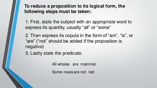 Categorical Propositions- Logic