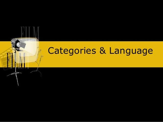 Categories & Language