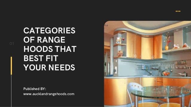 CATEGORIES OF RANGE HOODS THAT BEST FIT YOUR NEEDS 01 Published BY: www.aucklandrangehoods.com