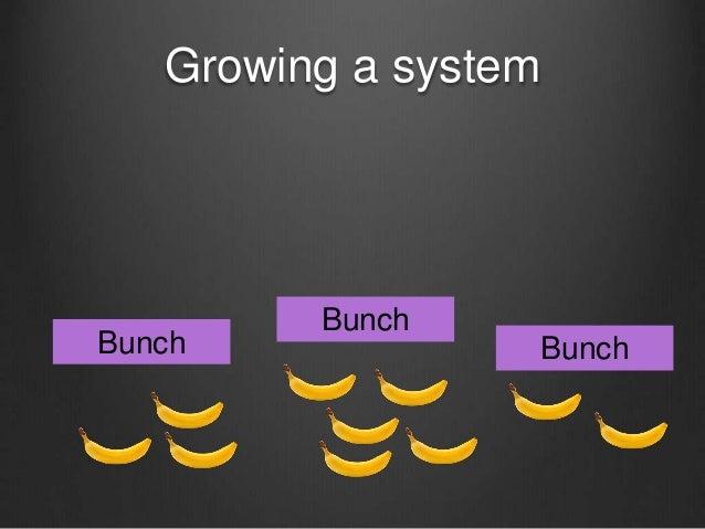 Growing a system Bunch Bunch Bunch