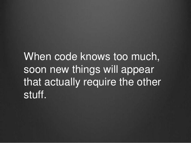 Abstraction is about hiding unnecessary information. This a good thing. We actually know more about what the code does, be...