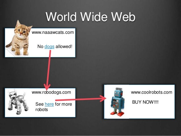 World Wide Web www.naaawcats.com No dogs allowed! www.robodogs.com See here for more robots www.coolrobots.com BUY NOW!!!!