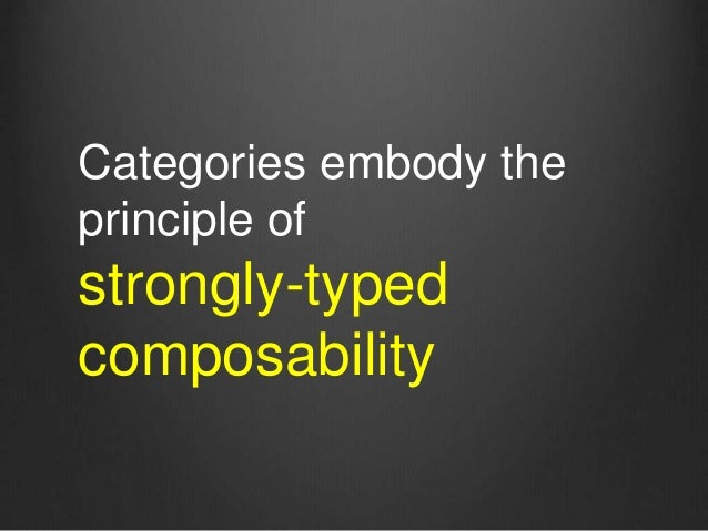 Categories embody the principle of strongly-typed composability