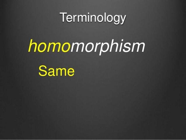 Terminology homomorphism Same