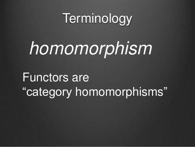 "Terminology homomorphism Functors are ""category homomorphisms"""