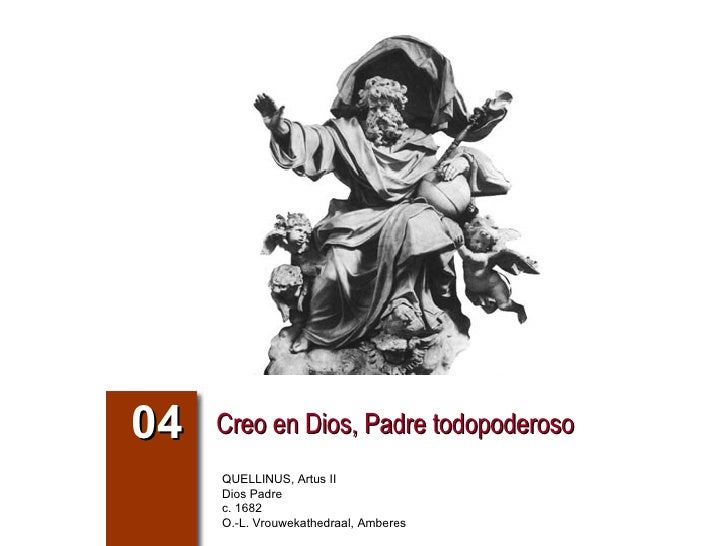 Creo en Dios, Padre todopoderoso 04 QUELLINUS, Artus II Dios Padre c. 1682 O.-L. Vrouwekathedraal, Amberes