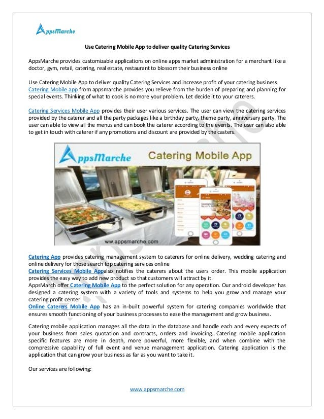 usecateringmobileapptodeliverqualitycatering services1638jpgcb 1497336487 – Catering Quotation