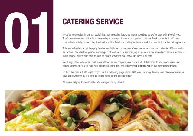 Catering brochure