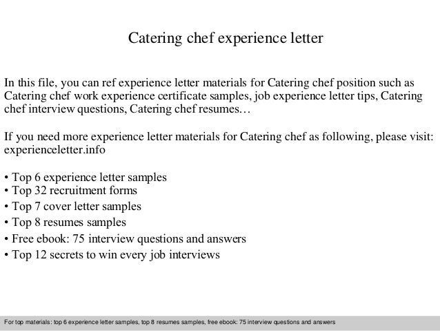 culinary cover letter examples