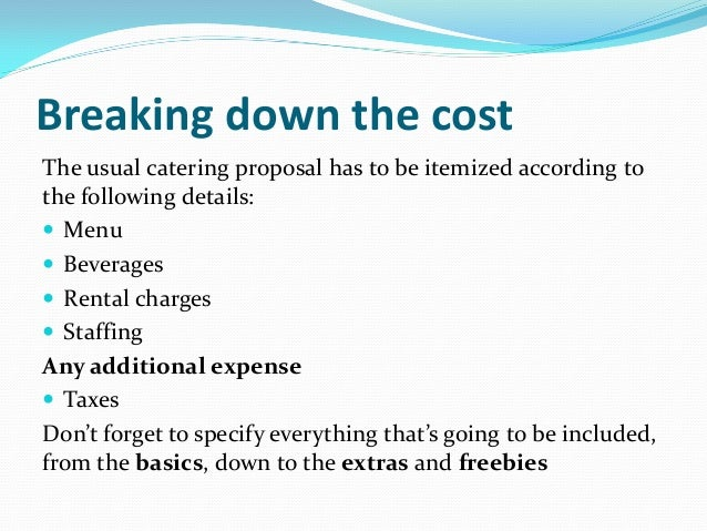Catering event costing 101 what every startup caterer should know