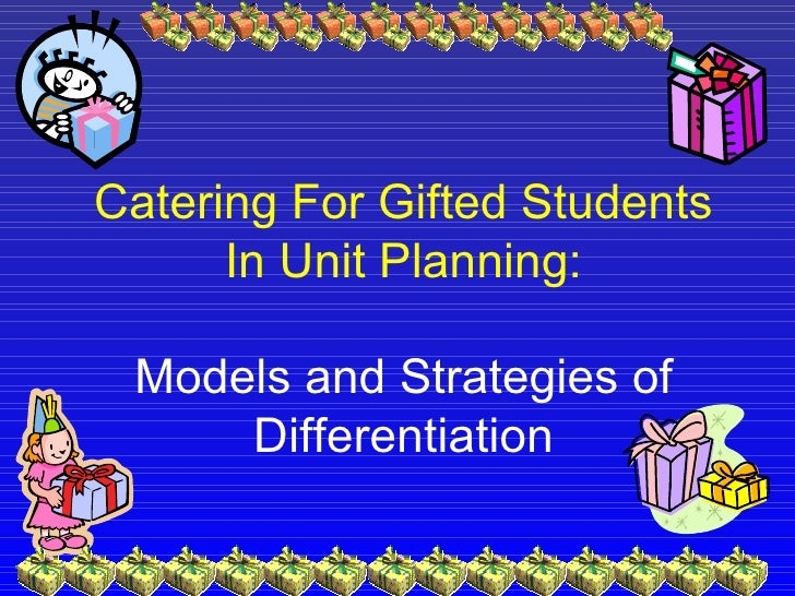Catering For Gifted Students In Unit Planning - Gifted lesson plan template