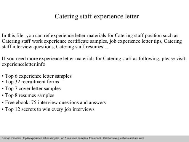 Catering staff experience letter 1 638gcb1409806911 catering staff experience letter in this file you can ref experience letter materials for catering experience letter sample spiritdancerdesigns Choice Image
